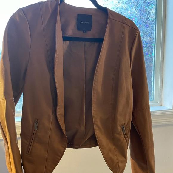 Brown Leather Dynamite Jacket